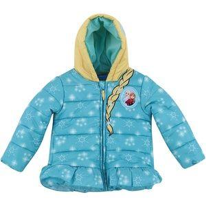Disney Elsa Toddler Puffy Jacket Size 2T 3T or 4T